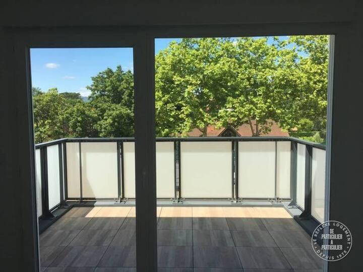 Chambre privée dans résidence neuve de standing