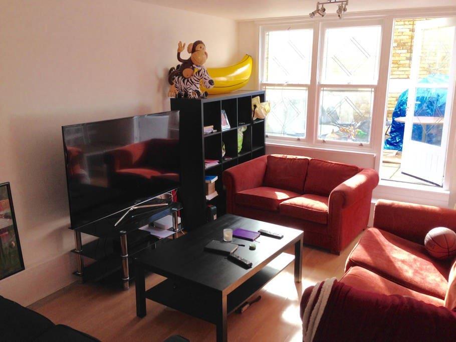 Living Room + large communal roof terrace