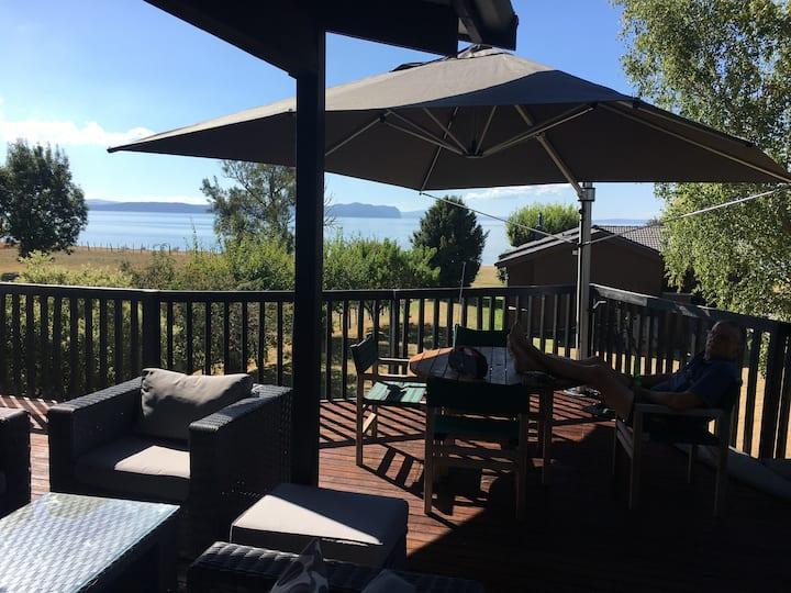 Large stunning lakeside location; secure backyard.