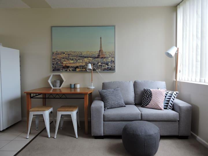 Sunny studio apartment - close to everything!