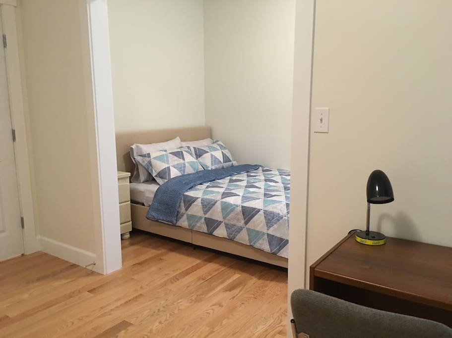 private bedroom + connected office/study