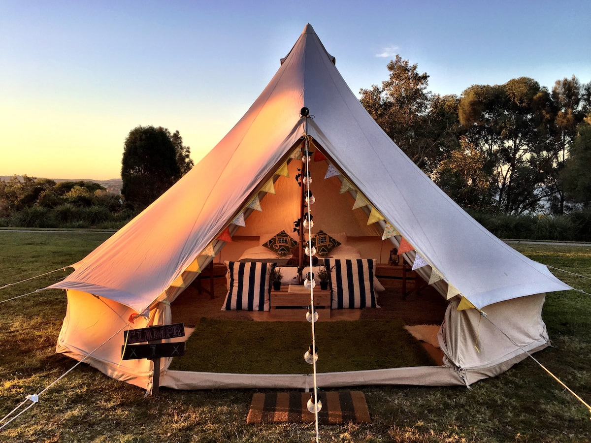 Step inside your gl&ing wonderland! & Luxury Glamping Bell Tent at Glenworth Valley - Tents for Rent in ...