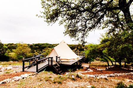 The Texas Bell Tent Glamping - Spring Branch - Tenda