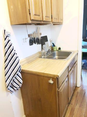 Quaint but functional kitchen