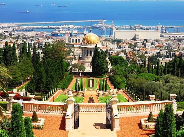 This point of view in Haifa is 13 minutes from the apartment