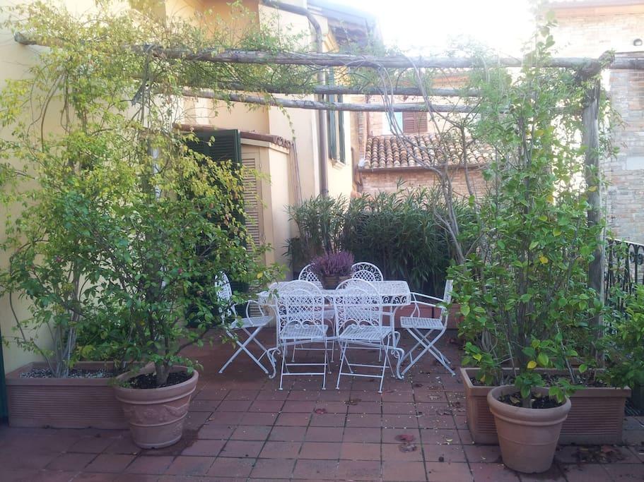 Il terrazzo privato