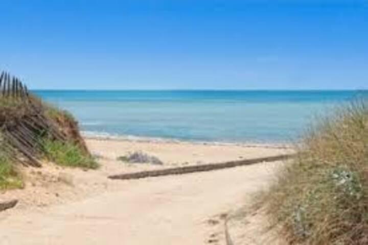 Roulotte Lilas à 7mn de la plage à pied