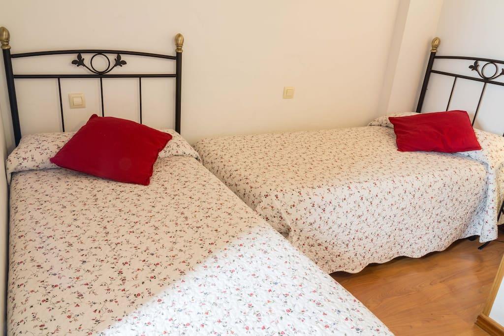 Dormitorio 1( con 2 camas individuales )