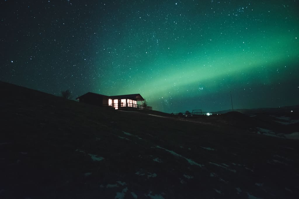 a perfect location for northern lights