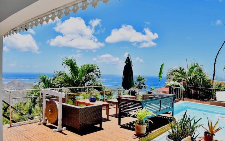 chambre dans villa exceptionnelle à pic paradis