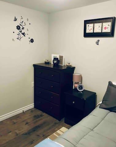Bedroom 2 with privacy door