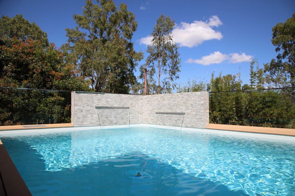 Resort style chlorine free pool