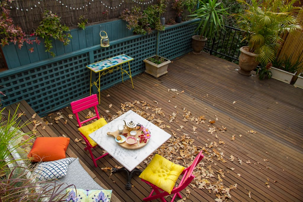 Enjoy relaxing on the private terrace
