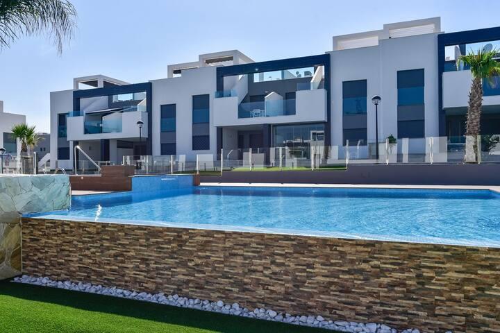 OASIS BEACH IX - Punta Prima Luxuriöse Ferienwohnung 5 Minuten vom Meer entfernt, Klima, gratis Wi-Fi, ideal für Familien - 69 - Christina