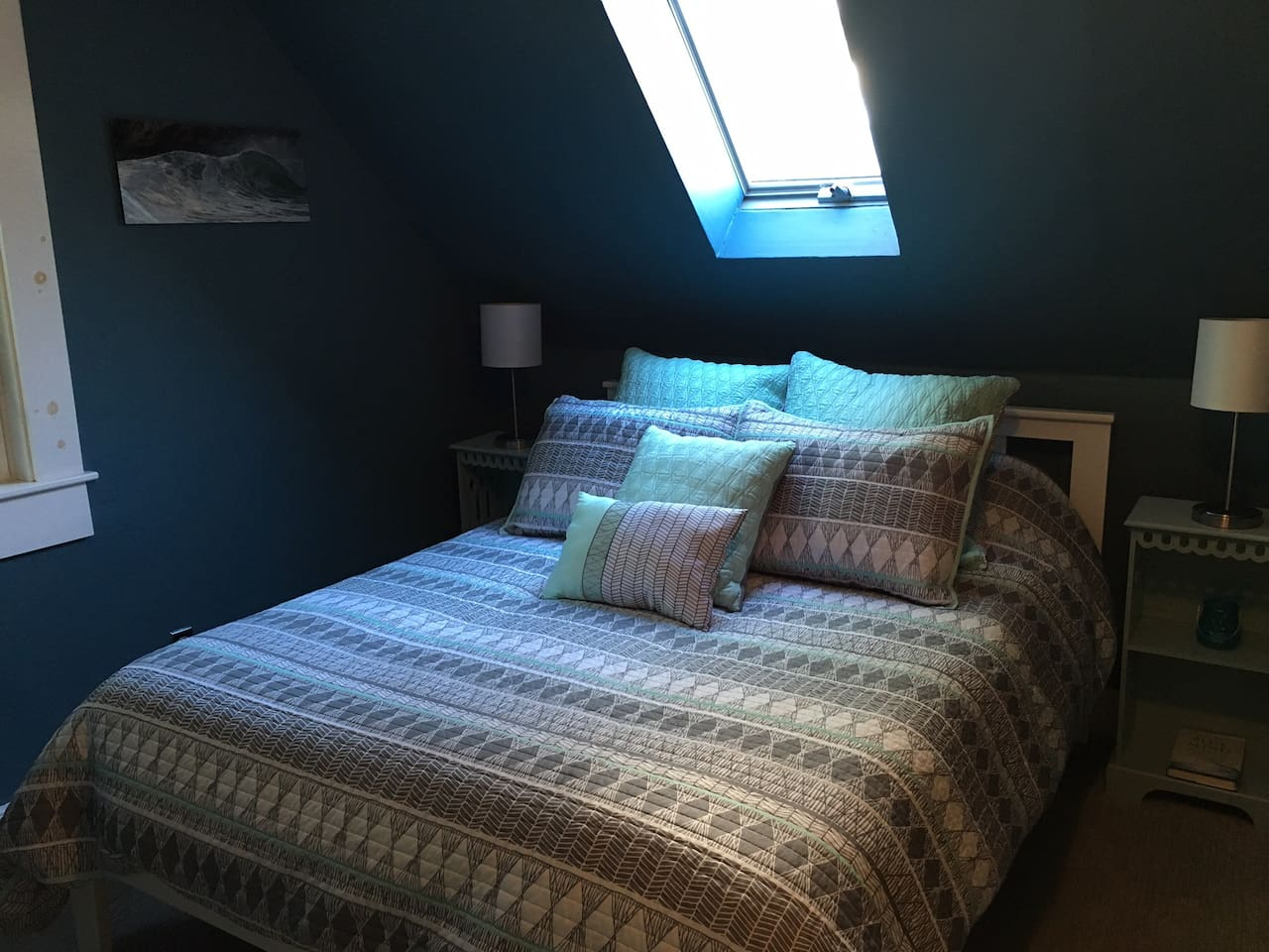 Queen Bed with Organic Linens