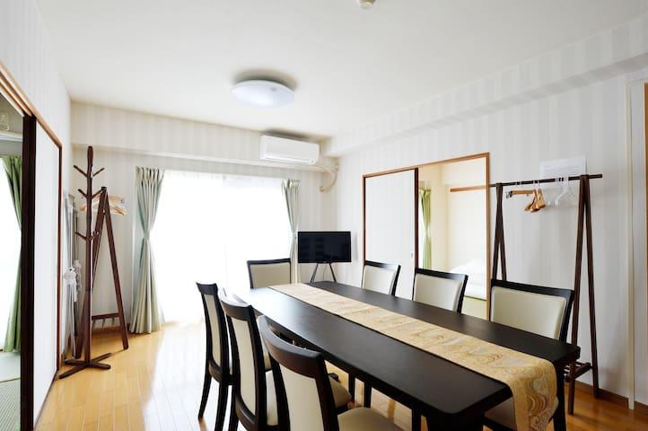 Near Osaka/Umeda Station 3 Bed Room apt(67.08㎡) - Osaka - Leilighet
