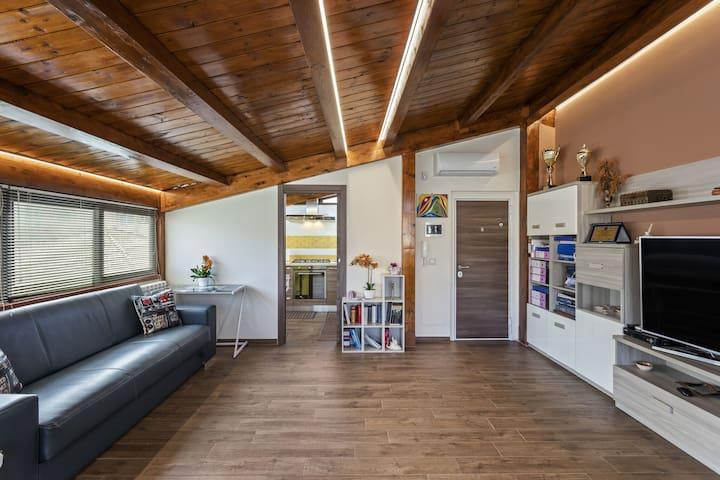Comfortabel appartement in Messina met balkon