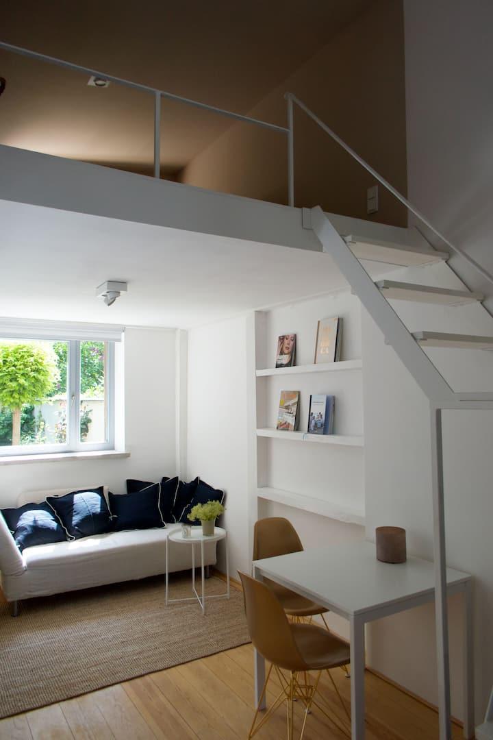 Schönes Studio im grünen Giebichensteinviertel