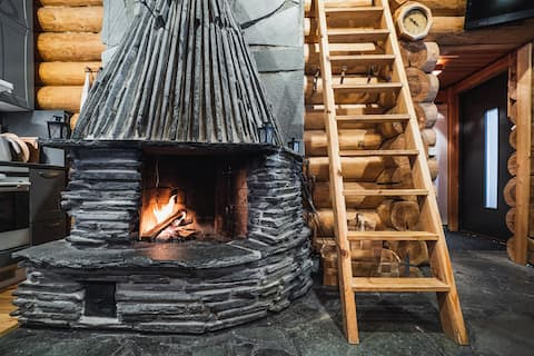Log Cabin with Private Sauna