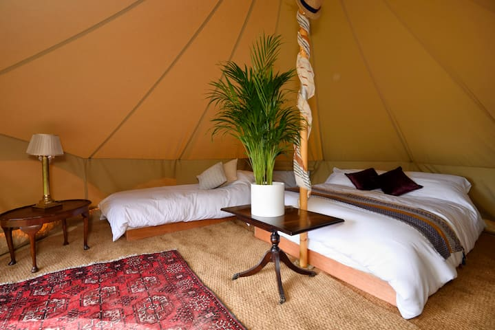 Vintage style family bell tent near Frome