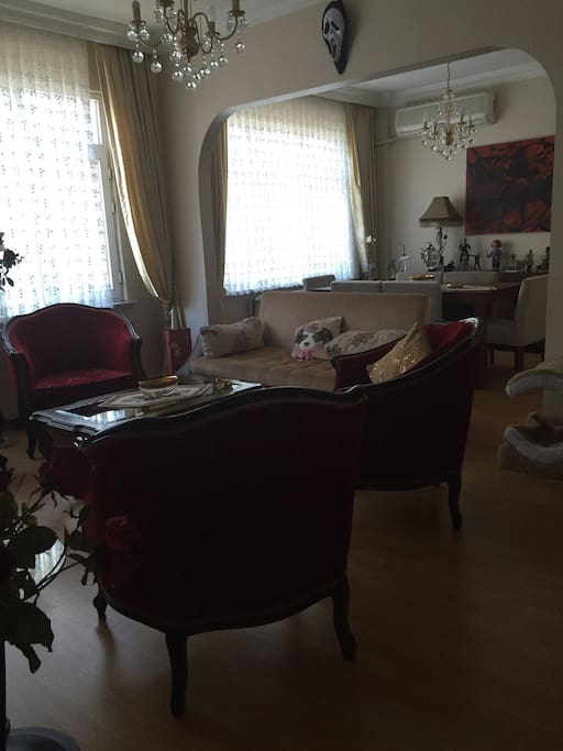 Common use. Living Room and dining part. You can relax in living room. Very luxurious design with TV and sound system.