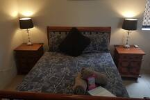 Comfortable bed in a beautiful lockable private room with free wi-fi