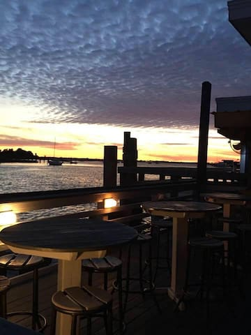 Morehead City waterfront at my place of work. Ruddy Duck Tavern