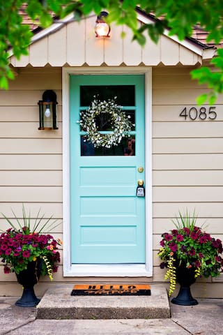 We hope you have an amazing stay behind the blue door!
