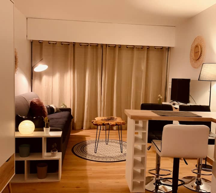 Studio oyster port Andernos 2/3 pers with swimming pool and parking