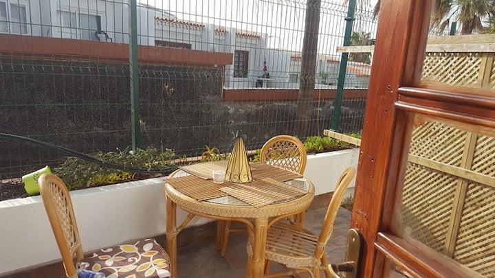 Studio with garden terrace in Costa Adeje