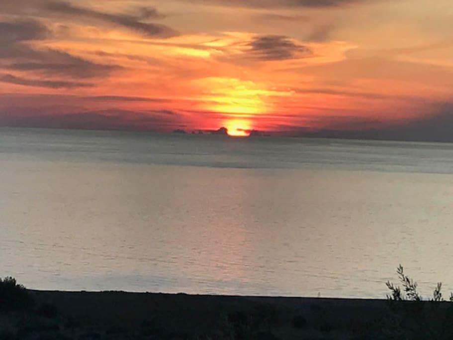Sonnenuntergang von Balkon