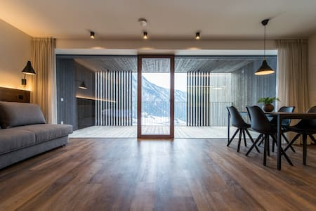 Studio with SPA and 20m pool - dolomites view