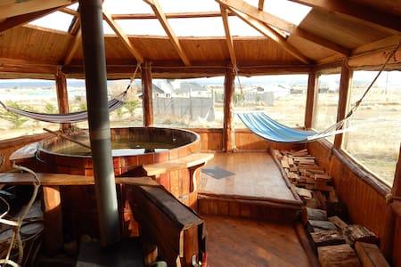 Cabaña Caiquen con hot tub - Cabane