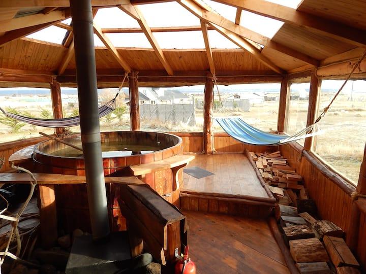 Cabaña Caiquen con hot tub