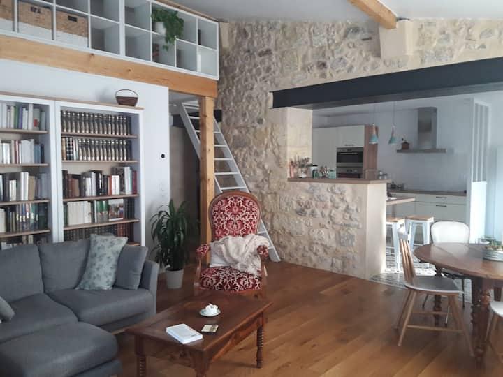 Chambre dans maison avec jardin Vieux Lormont