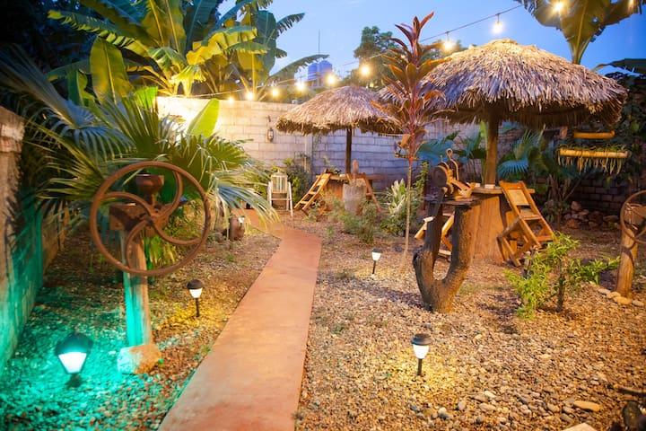 Jardín interior y espacios abiertos 2 habitaciones