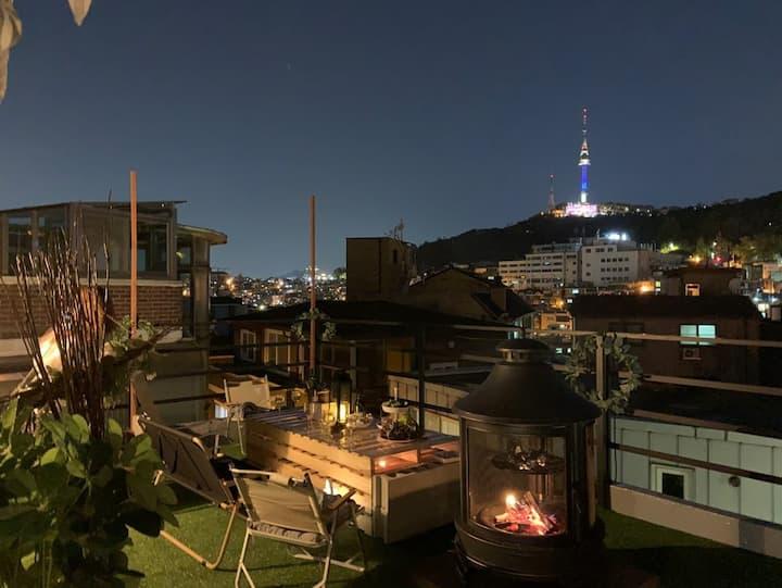 #무디플레이스 Camping&BBQ&Private place&Nightview @이태원캠핑