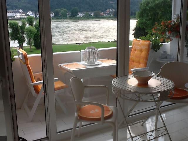 Ferienwohnung mit Top-Rheinblick - Bad Hönningen - Wohnung