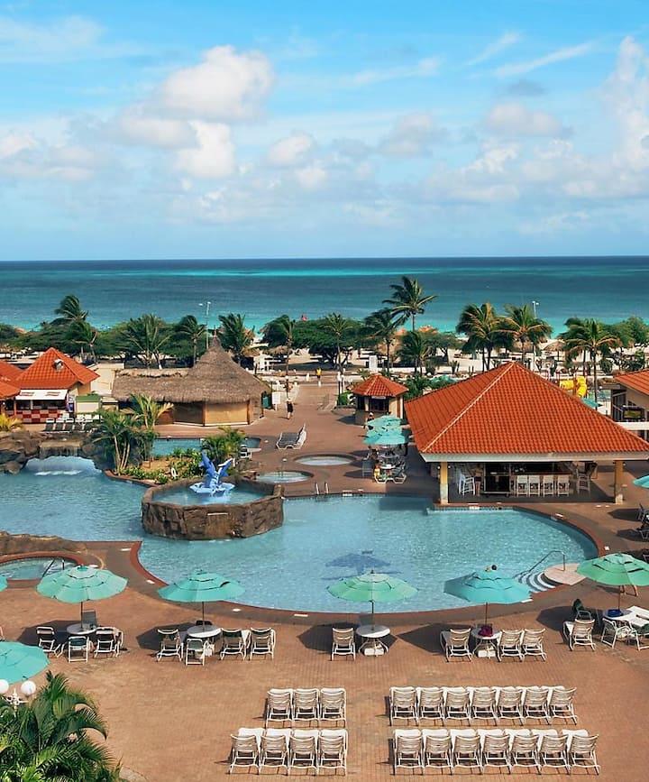 Aruba Paradise Resort steps away from the Beach!