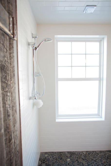 Shared Main Floor Shower