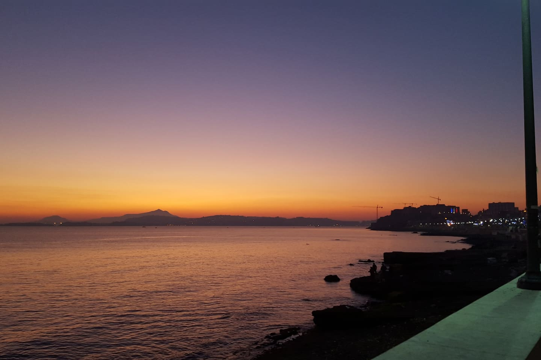 Sonnenuntergang am Lungomare von Pozzuoli