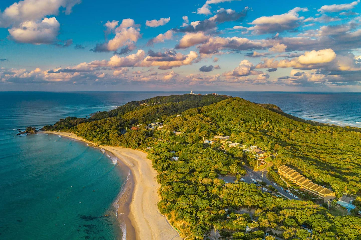 11-James Cook - Byron Bay - Aerial view of Cape Byron