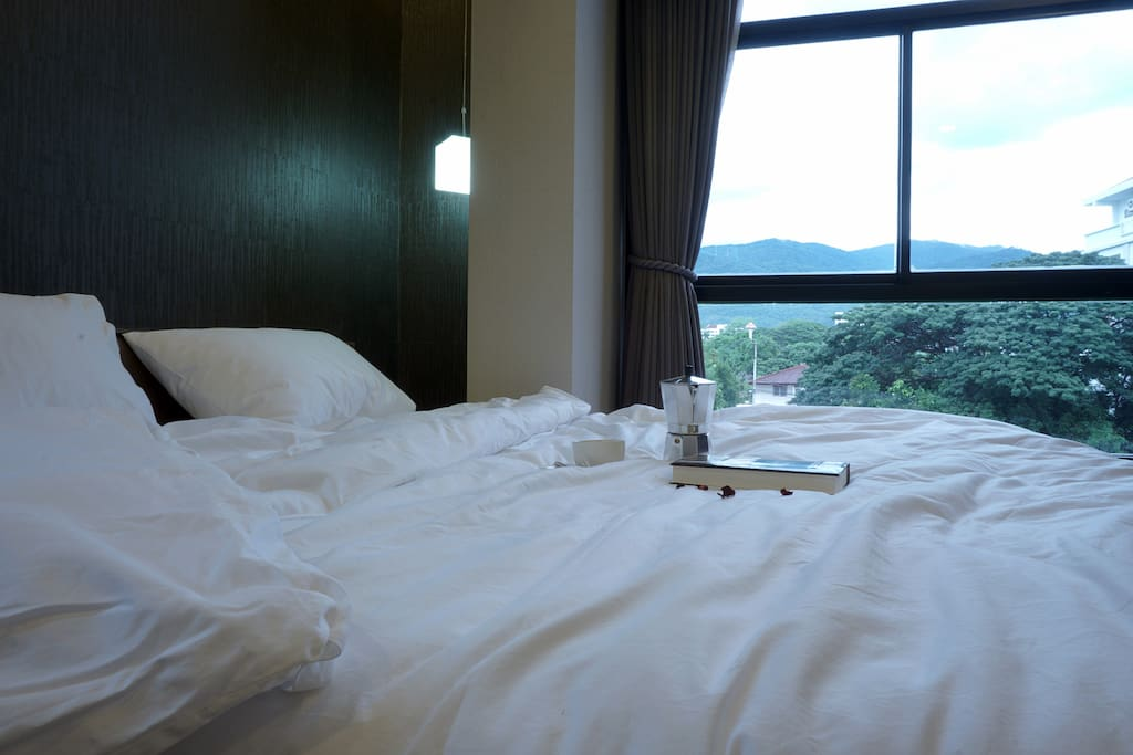 Bedroom with mountian view