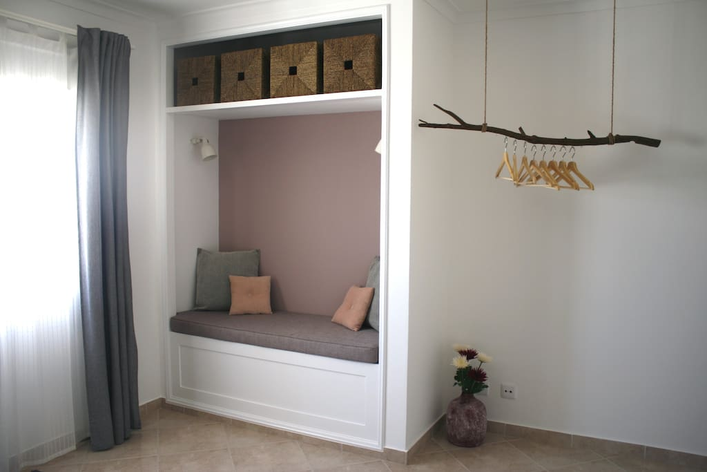 Main bedroom nook and hanger