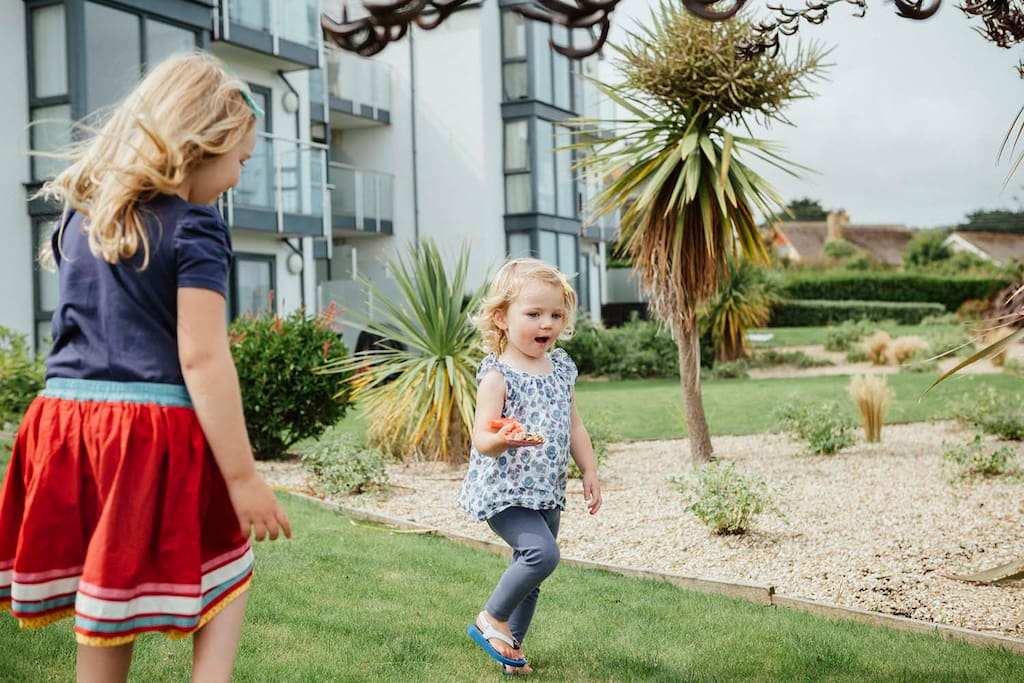 Outside garden space is perfect for little ones (or big ones) to let off steam