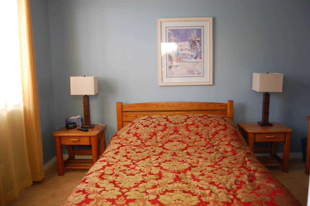 Your private bedroom w queen bed!