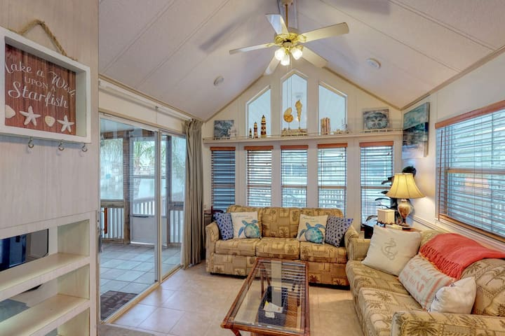 Canal-front home w/ dock, boat lift & shared pools/hot tub/gym - dogs OK!