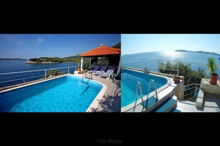Unique Seaside Villa Private Beach & Large Pool - Dubrovnik - Villa