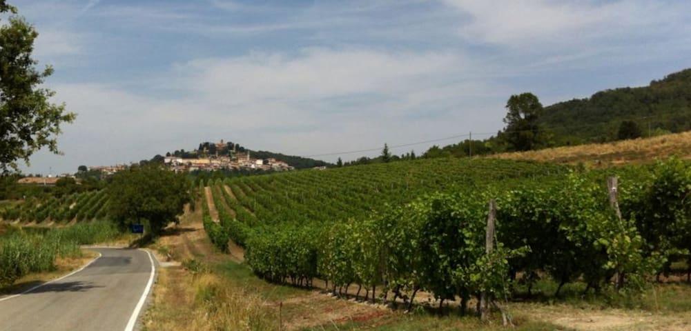 Stanza mansardata nel Monferrato - Montiglio Monferrato - Huis