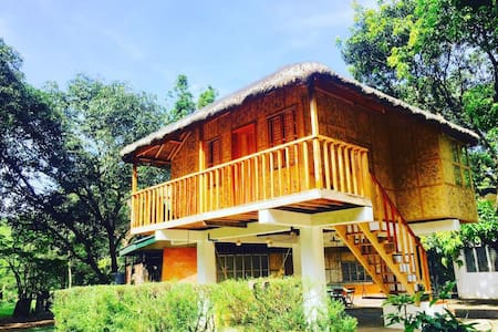 Modern Native House(Kubo) in a lovely Organic Farm - Angat - Haus